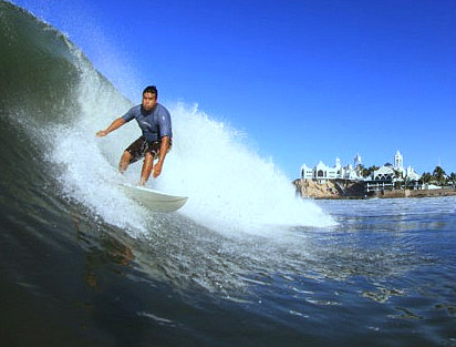Surfing in Mazatlan