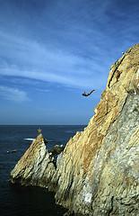 Cliff divers in Acapulco.