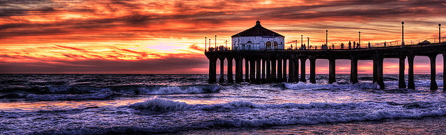 Manhattan Beach pier, Los Angeles, California