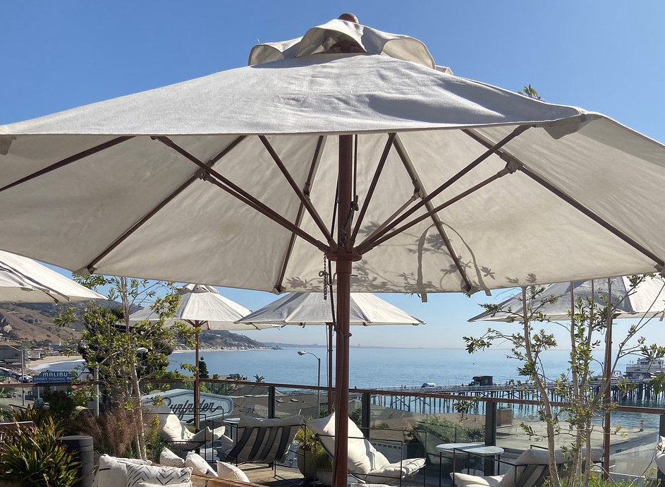 The Surfrider Hotel rooftop patio