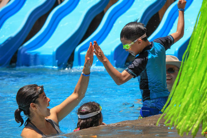 Kids love pool at Hotel Playa Mazatlan