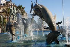 Statue of Dolphins along the Malecon
