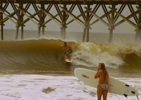 Surfing is popular in Malibu