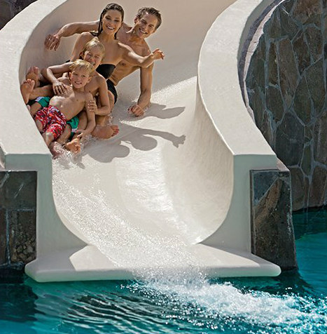 Family Fun at Now Amber Water Slide