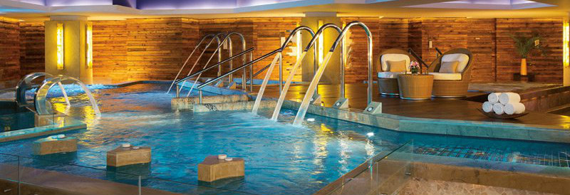 Refreshing Water jets at the Secrets Spa by Pevonia