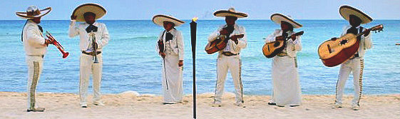 Playa del Carmen Beaches Mariachi Band on beach