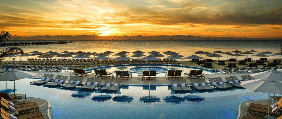 Beautiful pool at Playacar Palace.