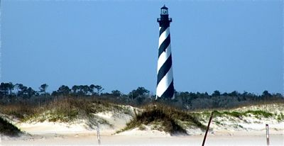 Cape Hatteras Lighthouse Attraction On North Carolina Vacation