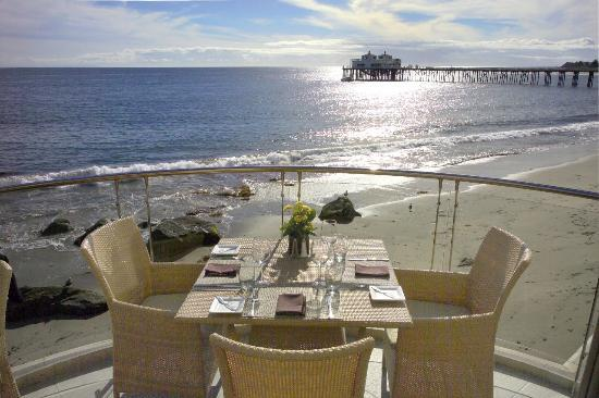 Deck at Malibu Beach Inn