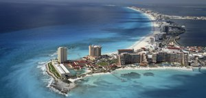 Cancun beaches and hotels are the most popular in Mexico.