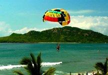 Parasailing in Mazatlan is very popular