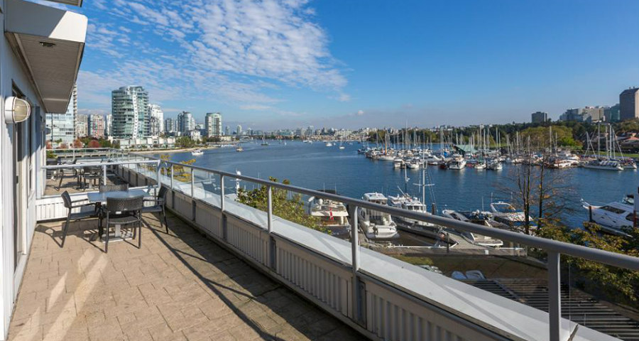 View from Granville Island Hotel penthouse.